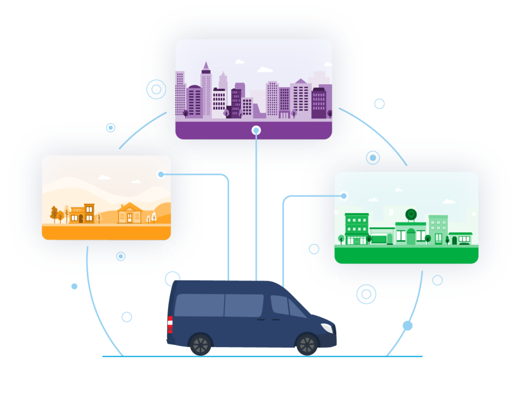 Microtransit in different geographies